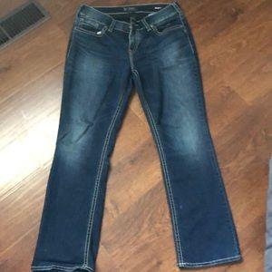 Women's silver jeans Suki size 14/L31